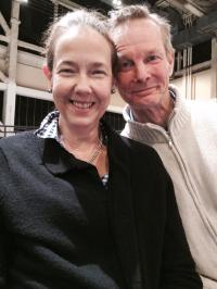 With the marvelous Bill Irwin in rehearsal for Show Boat.